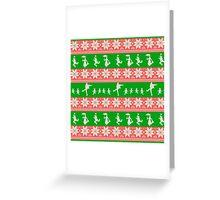 Mary Christmas Sweater Print Greeting Card