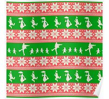 Mary Christmas Sweater Print Poster