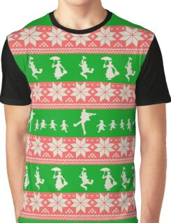Mary Christmas Sweater Print Graphic T-Shirt
