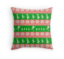 Mary Christmas Sweater Print Throw Pillow