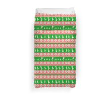 Mary Christmas Sweater Print Duvet Cover