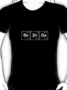 Ba Zn Ga! Periodic Table Scrabble [monotone] T-Shirt