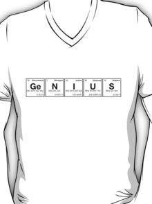 GENIUS! Periodic Table Scrabble [monotone] T-Shirt
