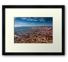 Alicante from above - best viewed large Framed Print