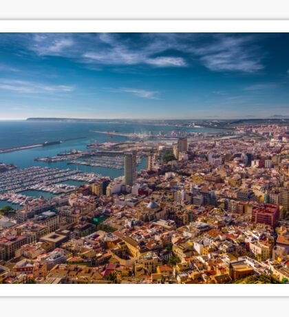 Alicante from above - best viewed large Sticker