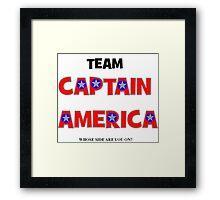 Civil war - Team captain America Framed Print