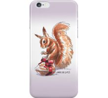 Holiday Critters - Red Squirrel iPhone Case/Skin