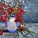 Acrylic Floral study 2 by Rachelle Dyer
