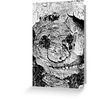 A Face On A Tree  Greeting Card