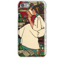 Vintage Woman Reading Poster iPhone Case/Skin