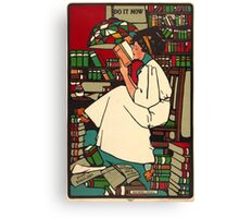 Vintage Woman Reading Poster Canvas Print