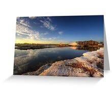Snowfields Of Faro Greeting Card