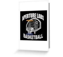 Aperture Labs Basketball Greeting Card