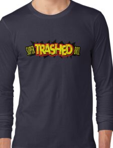 """Super Trashed Bro"" Super Smash Bros. Parody Spoof N64 Long Sleeve T-Shirt"