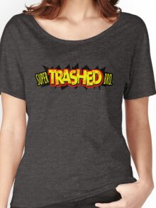 """""""Super Trashed Bro"""" Super Smash Bros. Parody Spoof N64 Women's Relaxed Fit T-Shirt"""