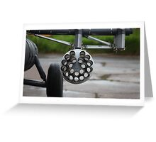 helicopter gun Greeting Card