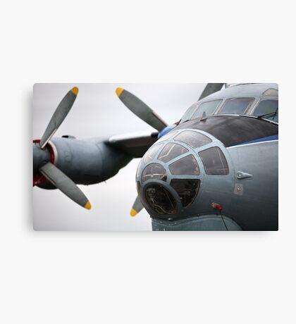 Military transport aircraft AN12 Canvas Print