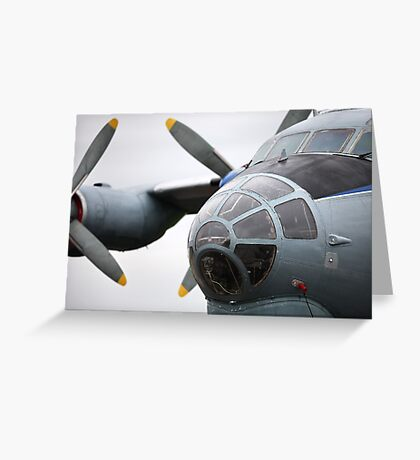 Military transport aircraft AN12 Greeting Card