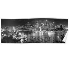 Lights, Camera Action - Sydney In Black & White - The HDR Experience Poster