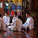 Yeeeess, may I help you?  Cao Dai temple, Tay Ninh. by geof