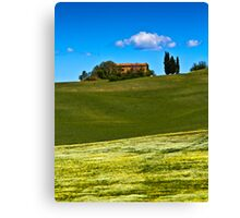 Fields near Pienza, Tuscany Canvas Print