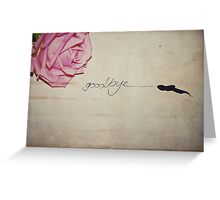 Goodbye Greeting Card