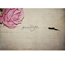 Goodbye Photographic Print