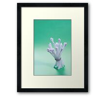 The bud packed tight Framed Print