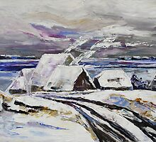 Winter At Little Jasmund Bay On The Island Ruegen by Barbara Pommerenke