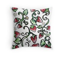 Strawberry love forever Throw Pillow