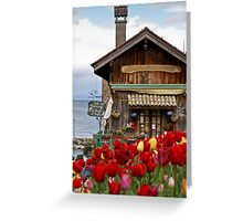 Colors of Yvoire - La Pointe Restaurant Greeting Card