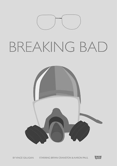 Breaking Bad //Minimal Print - Grey by Hello I'm Nik
