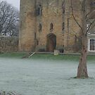 Tonbridge castle on a frosty day. by victor55