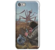 marooned astronaut confronting monster iPhone Case/Skin