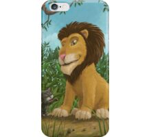 big lion small cat iPhone Case/Skin