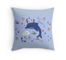 Ru-dolphin Throw Pillow