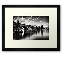 Charles bridge in the windy evening Framed Print