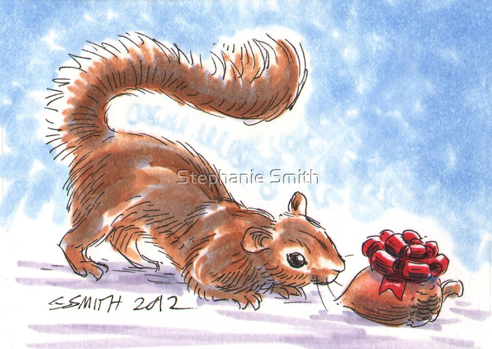 Holiday Critters - Squirrel by Stephanie Smith