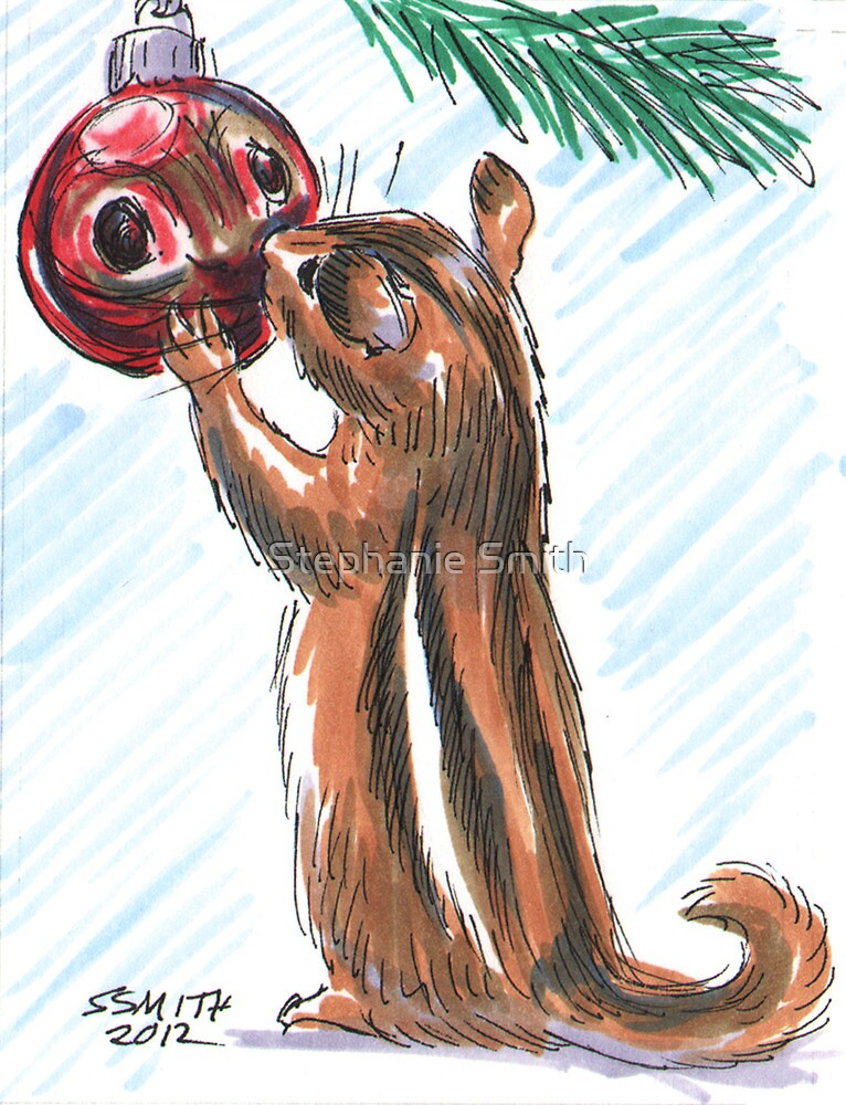 Holiday Critters - Chipmunk by Stephanie Smith