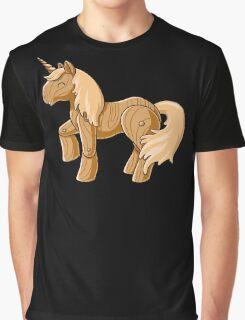 Unocchio the Wooden Unicorn Graphic T-Shirt