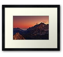 Cernera sunset Framed Print