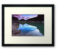 Lake's reflections Framed Print