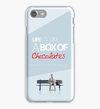 Forest gump - Life is like a box of chocolates. iPhone Case/Skin