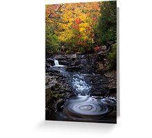 Autumn Swirls Greeting Card