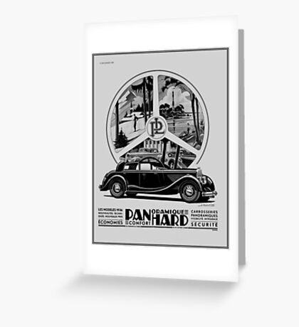Classic cars, French art deco icon Panhard Greeting Card