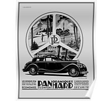 Classic cars, French art deco icon Panhard Poster
