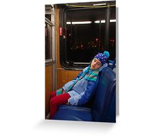 commuter Greeting Card