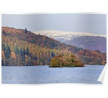 Lake Windermere. Autumn. Poster