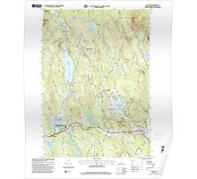 USGS TOPO Map New Hampshire NH Canaan 329492 1995 24000 Poster