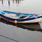 Coble fishing boat Whitby Harbour by Woodie